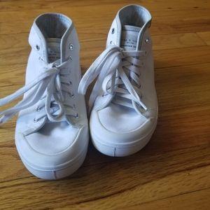 Rag&Bone White Canvas High Top Sneakers